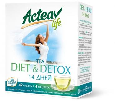 Чай Hyleys ActeaV life Diet & detox, 92 гр., картон