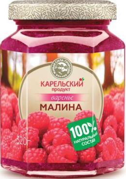 Варенье малина Карельский продукт, 370 гр., стекло