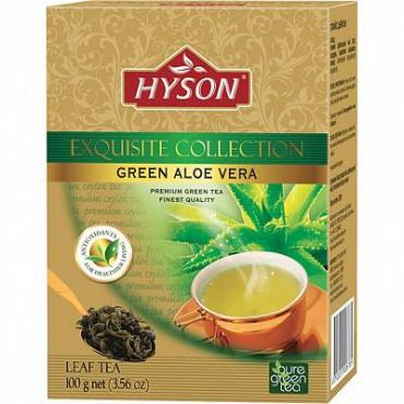 Чай Алоэ вера, зелёный крупнолистовой c добавками Hyson, 100 гр., картон