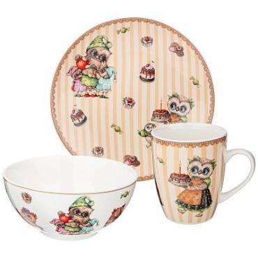 Набор посуды Обеденный, 3 предмета Lefard Совушки