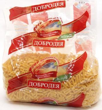 Макаронные изделия завитоны Добродея, 2 кг., пластиковый пакет