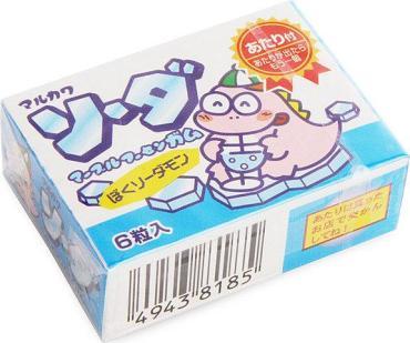 Жевательная резинка со вкусом содовой Marukawa, 11 гр., картон