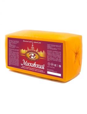 Сырный продукт Московский 50 %, брус, Джанкой, 4,5 кг., термоусадочная пленка