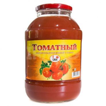 Сок томатный с солью САВА, 2 л., стекло