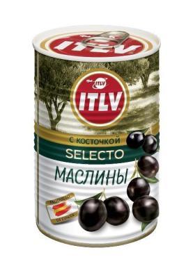 Маслины ITLV с косточкой Selecto, 425 мл., ж/б