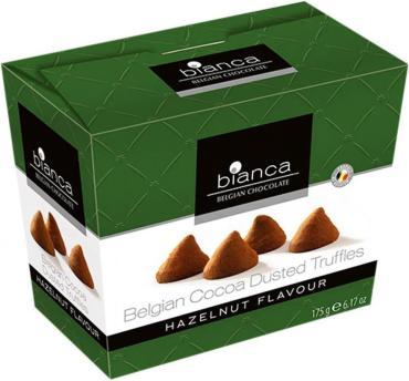 Трюфели Bianca со вкусом лесного ореха, 175 гр., картон