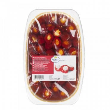 Перец Royal красный сладкий peppedoro, фаршированный сыром, 1,9 кг., пластиковый контейнер