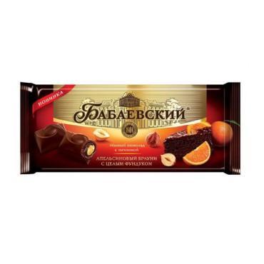 Шоколад апельсиновый брауни с целым фундуком Бабаевский, 165 гр., флоу-пак
