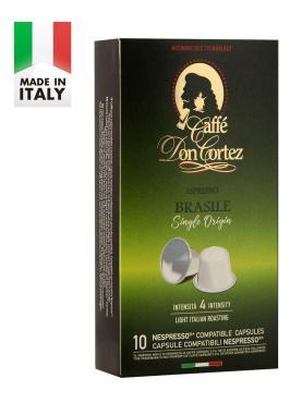 Капсулы для кофемашин Nespresso brasile, натуральный кофе, Carraro Don cortez, 52 гр., картон