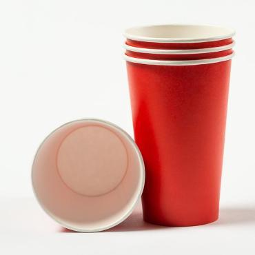 Стаканчики однослойные Стакан 450 мл (Красный), 800 шт, UNITY COFFEE, флоу-пак