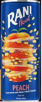Cокосодержащий напиток из персикового сока с кусочками персика Rani Персик, Rani, 240 мл, ж/б,