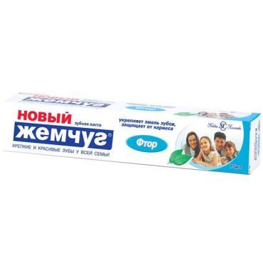 Зубная паста Жемчуг Новый Фтор, 70 гр., картон