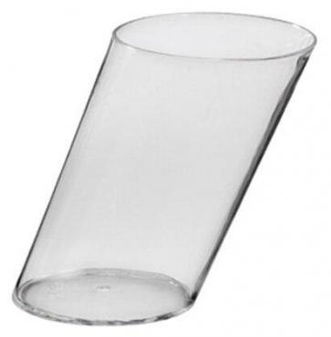 Форма одноразовая пластиковая Papstar Цилиндр фуршетная цвет прозрачный 170 мл., 80х59 мм., 5 штук, 19,8 гр., пластиковая упаковка