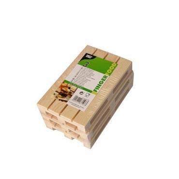 Поднос бамбуковый PapStar, сервировочный 130х80 мм., евро поддон 3 шт., 43 гр., полиэтиленовая пленка