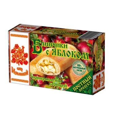 Блинчики От Ильиной с яблоками приправлены корицей замороженные, 450 гр., картон