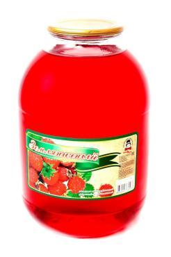 Сок КрасноУфимск продукт земляничный, 3 л., стекло