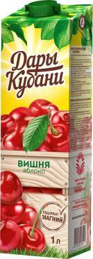 Нектар Дары Кубани яблочно-вишневый осветленный, 1 л., тетра-пак