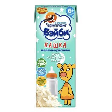 Кашка Черноголовка молочно-рисовая 2,0%  Бэйби для детского питания, 200 мл., тетра-пак
