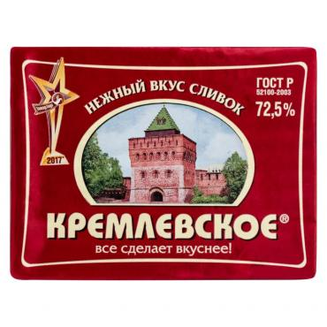 Спред Кремлевское растительно-жировой 72,5%, 180 гр., обертка фольга/бумага