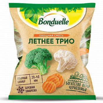 Смесь Bonduelle овощная Летнее трио замороженная, 400 гр., флоу-пак