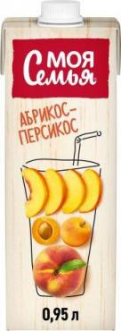 Нектар Яблоко-персик-абрикос Моя Семья, 1,93 л., тетра-пак
