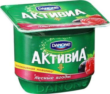 Йогурт Danone Активиа лесные ягоды