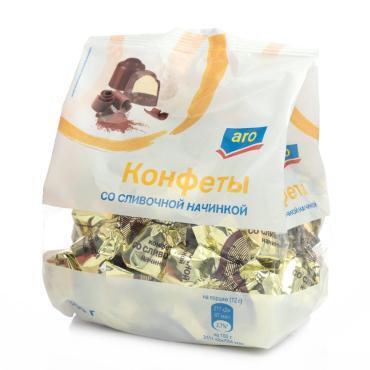 Конфеты Aro со сливочной начинкой шоколадные