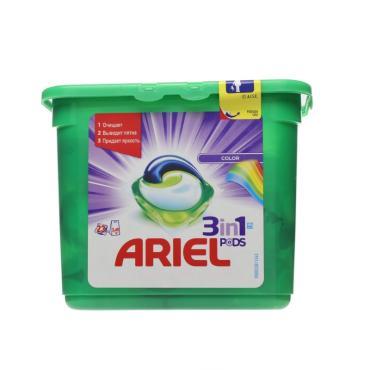 Капсулы для стирки Ariel Pods Color 3 в 1 для цветного белья 23 шт
