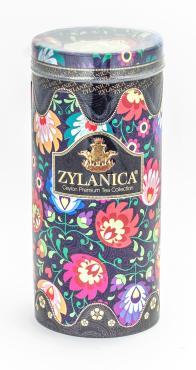 Чай Zylanica Folk Desing Collection Black, со свечой черный, 100 гр., ж/б