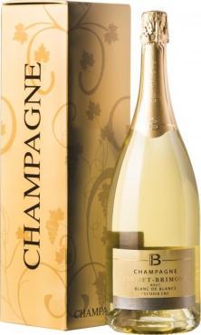 Шампанское Блан де Блан Премье Крю в п.у. / Blanc de Blancs Premier Cru in box,  Шардоне,  Белое Брют, Франция