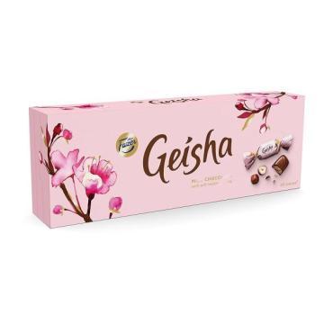 Батончик из молочного шоколада с нежной начинкой из орехового пралине, Geisha, 37 гр., ПЭТ