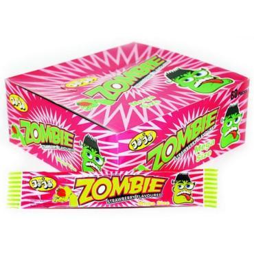 Жевательная конфета, клубника, красящая язык, 60 шт., Mega Size JoJo Zombie, картонная коробка