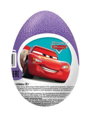 Шоколадное яйцо Конфитрейд Шоки-Токи Тачки с игрушкой
