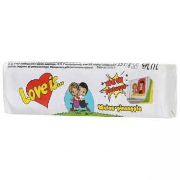 Жевательная конфета Love is дыня-ананас  25 гр.