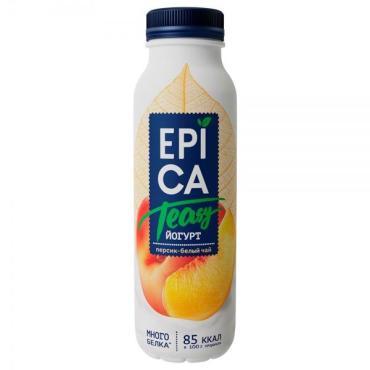 Йогурт питьевой Epica Teasy с персиком и экстрактом белого чая 2,5%