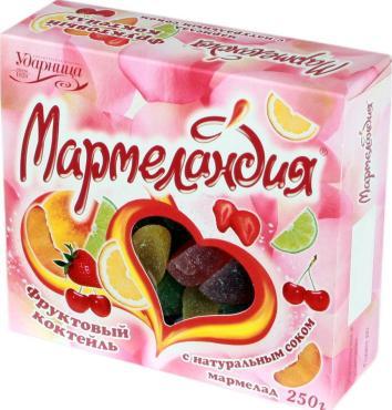 Мармелад Мармеландия Фруктовый коктейль С натуральным соком