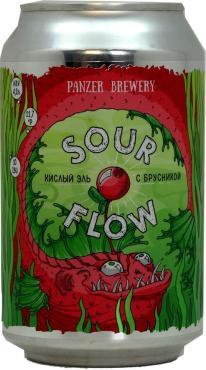 Пивной напиток Panzer Sour flow Кислый эль с брусникой 4,2%