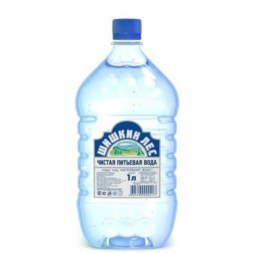 Вода питьевая негазированная артезианская столовая,  Шишкин Лес, 1 л., ПЭТ