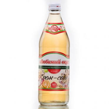 Лимонад крем-сода Любимый вкус, 500 мл., стекло