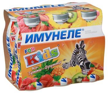Кисломолочный напиток Имунеле For Kids Вкус Тутти- Фрутти 1,5%
