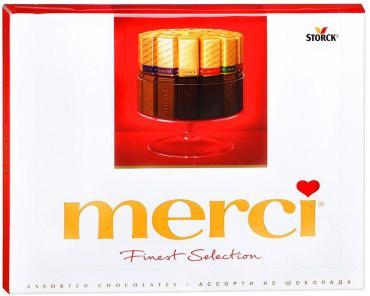 Шоколад MERCI молочный Ассорти 250г