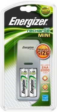 Зарядное устройство Energizer Mini Charger + 2AA 2000 mAh