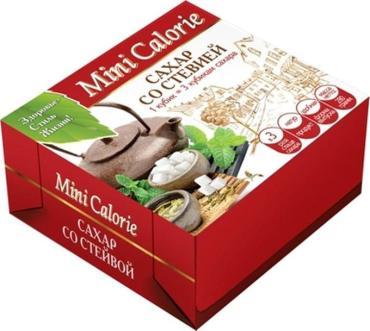 Сахар Mini Calorie Со стевией в кубиках