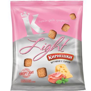 Сухарики Light ветчина с сыром, Кириешки, 33 гр, флоу-пак