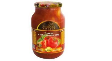 Овощные консервы Amrita Томаты в собственном соку