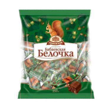 Конфеты Красный Октябрь Самойловская белочка, 200 гр., флоу-пак