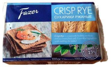 Хлебцы Fazer Krisp Ржаные хрустящие