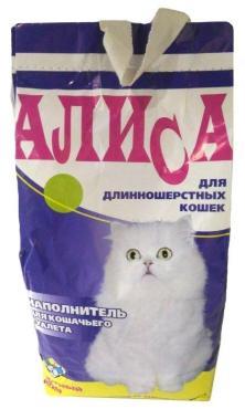 Наполнитель для кошачьего туалета Алиса 4.6 л. Бумажная упаковка