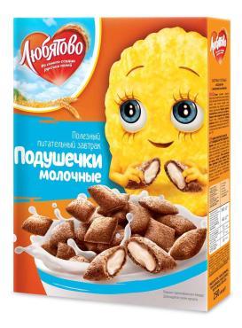 Сухой завтрак Любятово Подушечки с молочной начинкой
