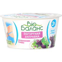 ББ Йогурт для заправ. с овощн. напол. прян. Прованс травы3%140г Ст.ГЛ6